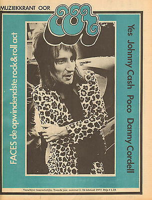 MAGAZINE OOR 1972 nr. 03 -  FACES /JOHNNY CASH / YES / RON WOOD / RICHIE FURAY
