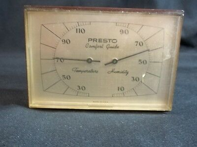 Presto Comfort Guide Vintage Thermometer Barometer Made in USA