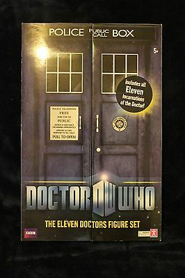 """Doctor Who Action Figure Set - First 11 Doctors in one Box Set """"NIP"""""""
