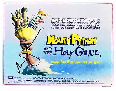 Eric Idle Signed Photo - Monty Python And The Holy Grail  AFTAL  UACC RD