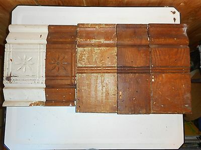 Mixed Lot Antique Carved Wood Plinth Block Trim Door Moulding Architectural