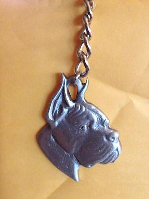 I Love My Boxer Ratcliffe Pewter Keychain
