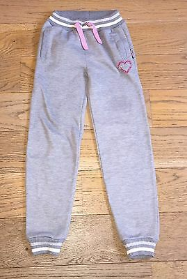 Girls Grey Lee Cooper Jogging Bottoms 9-10 Years