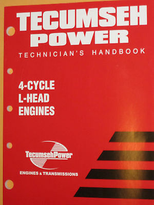 "Genuine Tecumseh repair manual 740049, 692509  for 3-10 HP 4 Cycle ""L""head Engin"