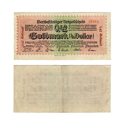 Provinz Westfalen: 0,42 Goldmark November 1923