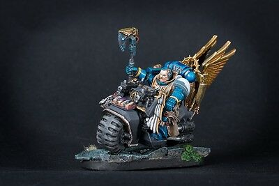 Sage (Librarian) on bike.Conversion set for Space Marine Bike power weapons DE.