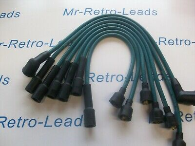 Black 8Mm Classic Mini Cooper S Sprite Miget Ignition Leads Champion Wc200 Nos