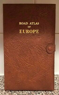 Vintage Leather Road Map of Europe