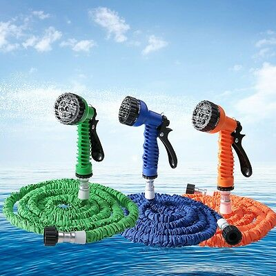 Expandable Home Garden Hose Water Pipe with 7 Modes Spray Gun Clearance Sale!