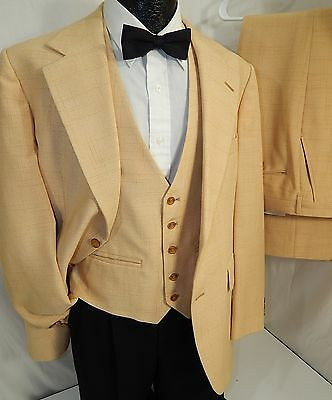 3 pc Vtg 70's HOLLYWOOD ATOMIC FLECK Men MoD DISCO PIMP Suit VIVA LAS VEGAS VLV