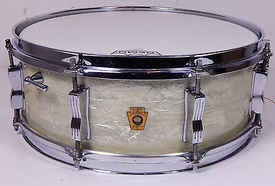 Ludwig 1965 Jazz Festival USA 14x5 Vintage Snare White Marine Pearl WMP  *TOP*