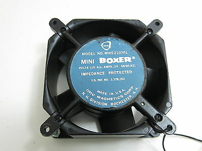 Imc Mini Boxer Fan Model Mws2107Fl Rated At 115V 2.4 Amp With Case
