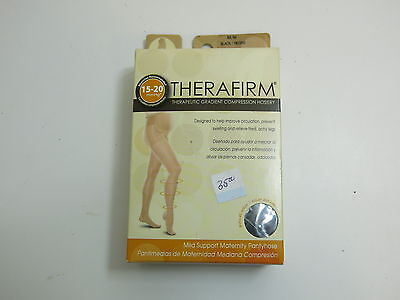 Therafirm Therapeutic Compression Hosiery Maternity Pantyhose M/m Black 68138