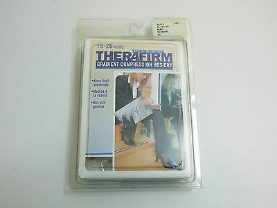Therafirm Therapeutic Compression Hosiery Knee High Stockings Xl Nude 68173