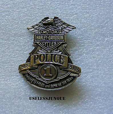 Harley-Davidson Motorcycle #1 Brass Plated Full Size Police Badge