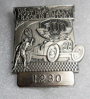 2011Silver Indianapolis 500  Pit Badge #1230