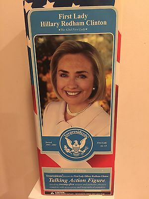 HILLARY CLINTON TOY PRESIDENTS TALKING ACTION FIGURE Collectible DOLL NIB 2005
