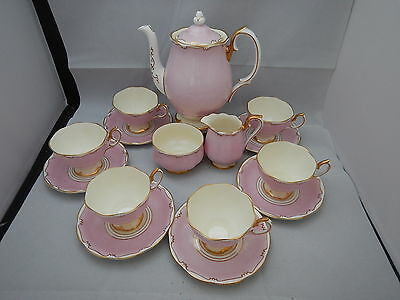 15 x Rare Royal Albert Pastel Pink & gold Demitasse cups Coffee set