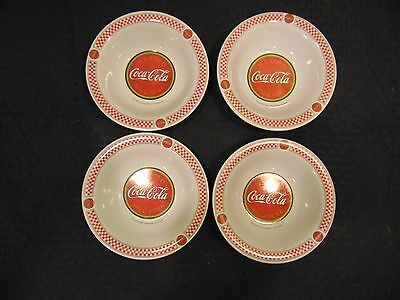 Set Of 4 Plastic Gibson Coca-Cola Soup Cereal Bowls