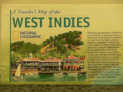 2003 National Geographic Travelers Map of the West Indies