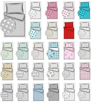 2 Piece Baby Bedding UK SINGLE BED Duvet Set cover and pillowcase 100% COTTON!