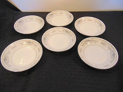 Set Of 6 Wade Diana Fine Porcelain China Fruit Desert Bowls