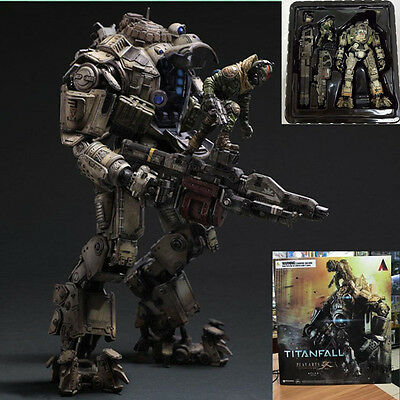 PVC Play Arts Kai Atlas&Pilot Titanfall Armor Robot Action Figure Toy Statue 10""