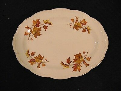 Vintage Heritage Ware By Stetson Oval Leaf Serving Plate