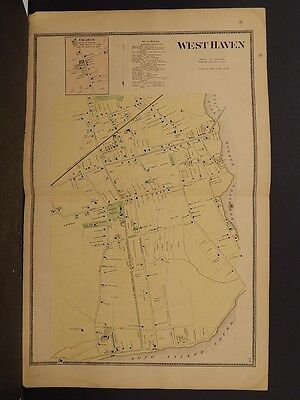 Connecticut, New Haven County Map, 1868 West Haven !Z3#40