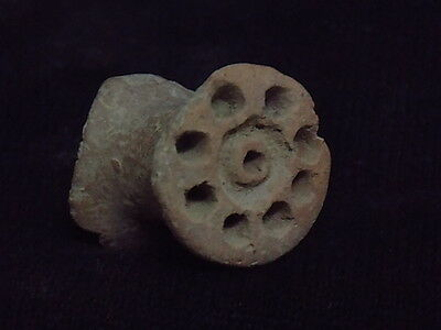 Ancient Teracotta 2 Sided Seal Indus Valley 2000 BC      #SG8697