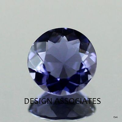 Iolite Round Cut 5 Mm  All Natural Aaa