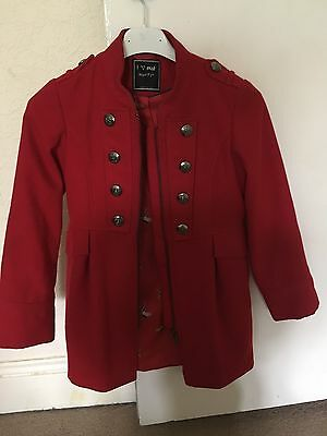 Girls Red Trench/mac Coat From Next Age 7-8