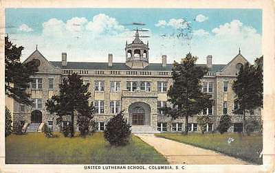 Columbia South Carolina United Lutheran School Antique Postcard K46314