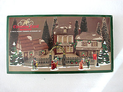Dept 56 Christmas Carol Holiday Trimming Set #58319 (Set of 21) Retired Dickens