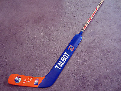 CAM TALBOT Edmonton Oilers Autographed SIGNED Goalie Stick w/ COA Rogers Arena