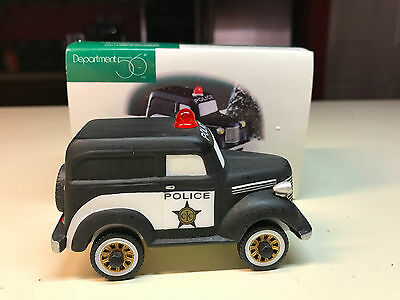 Department 56 Christmas In The City CITY POLICE CAR In Original Box