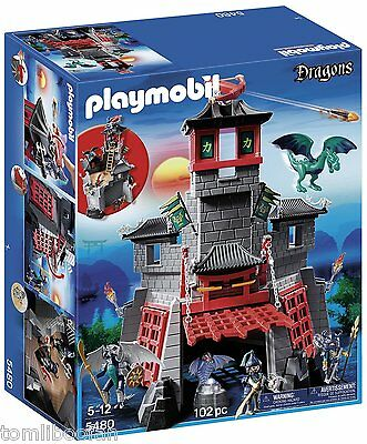 Playmobil 5480 Secret Dragon Fort with 2 Dragons and 2 Knights