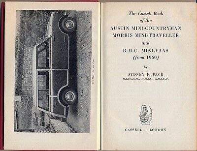Cassell book of the Mini Countryman Traveller Mini Van - all models from 1960