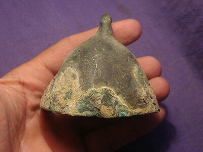 Ancient Large Size Bronze Bell Bactrian 200 BC    #2405