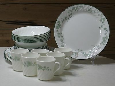 """Discontinued Corelle """"Callaway"""" 30 Pc. Dinnerware Set for 6"""