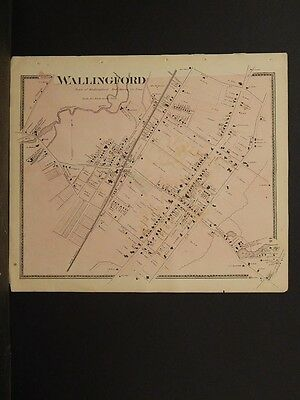 Connecticut, New Haven County Map, 1868 Wallingford !Z3#54