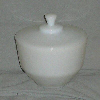 Very Nice Vintage Federal Glass White Bowl With Lid