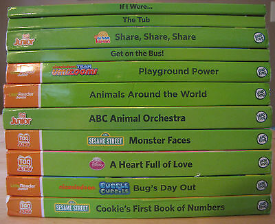 Leap Frog Tag Junior Lot 11 Board Books VG UmiZoomi Sesame Street Bubble Guppies