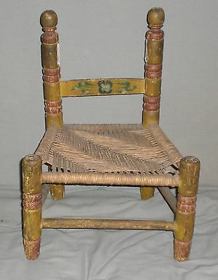 Vintage Wicker Bottom  Doll/Child's Chair