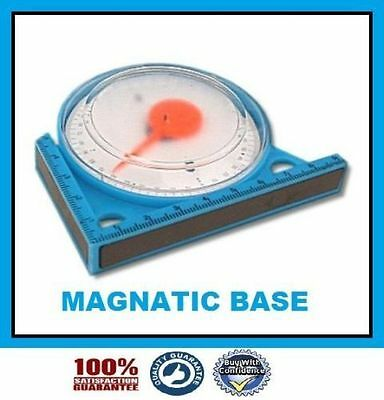 New Magnetic Inclinometer Roofing Scaffolding Angle Finder Level Gauge 95mm
