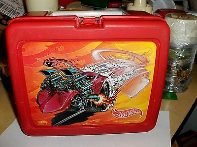 Hot Wheels`1999`Mattel Inc.By The Thermos Company,Plastic Lunch Box->Free To US