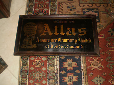 COLLECTIBLE-ATLAS ASSURANCE COMPANY LIMITED OF LONDON ENGLAND EST.1808 BRASSsign