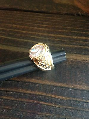 Cuban Estate 14k Solid Gold Flower Design Ring Size:10  Weight: 6.0 DWT