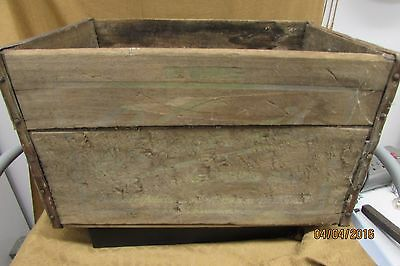 "Vintage Vernor's Ginger Ale Wooden Crate 16"" x 10.5"" x 9""  1900  POP SODA COLA"