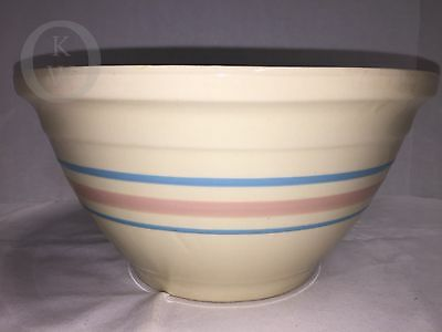 """*vintage*mccoy Pottery*oven Ware*striped Mixing Bowl 10""""  #16304Z"""